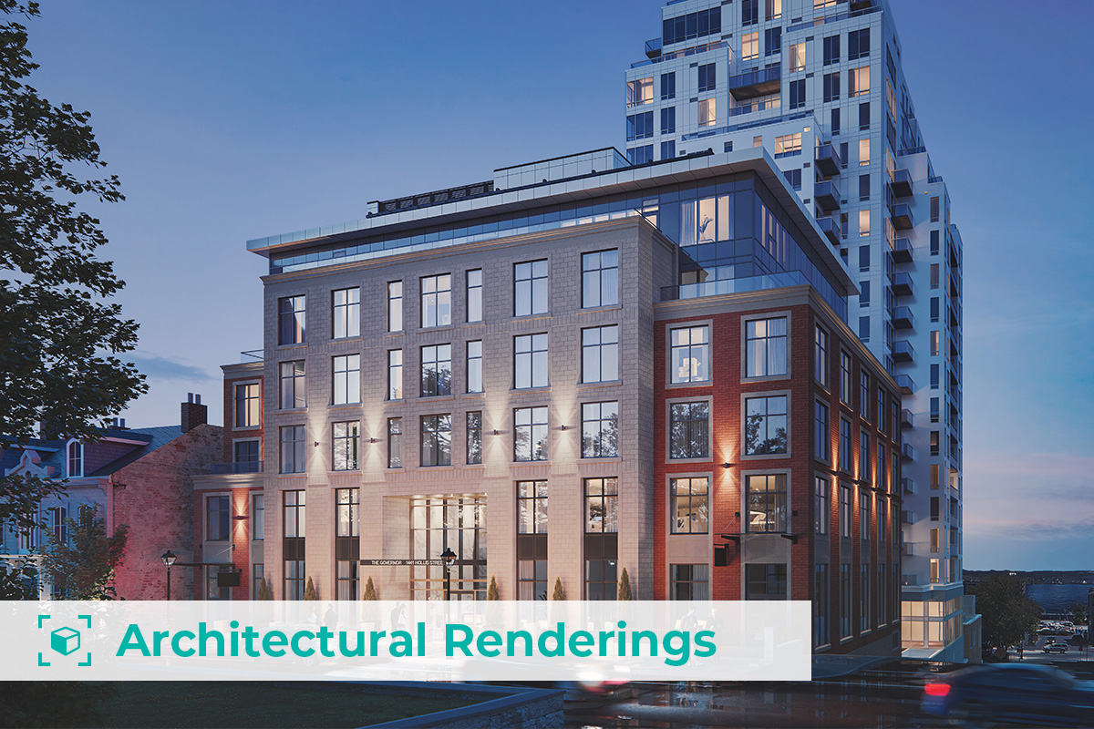 architectural rendering of building exterior