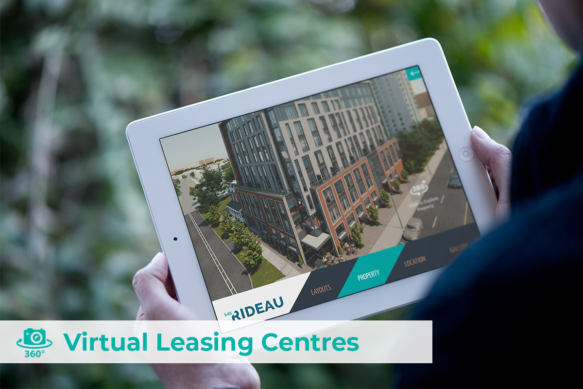 Virtual leasing centre on a tablet