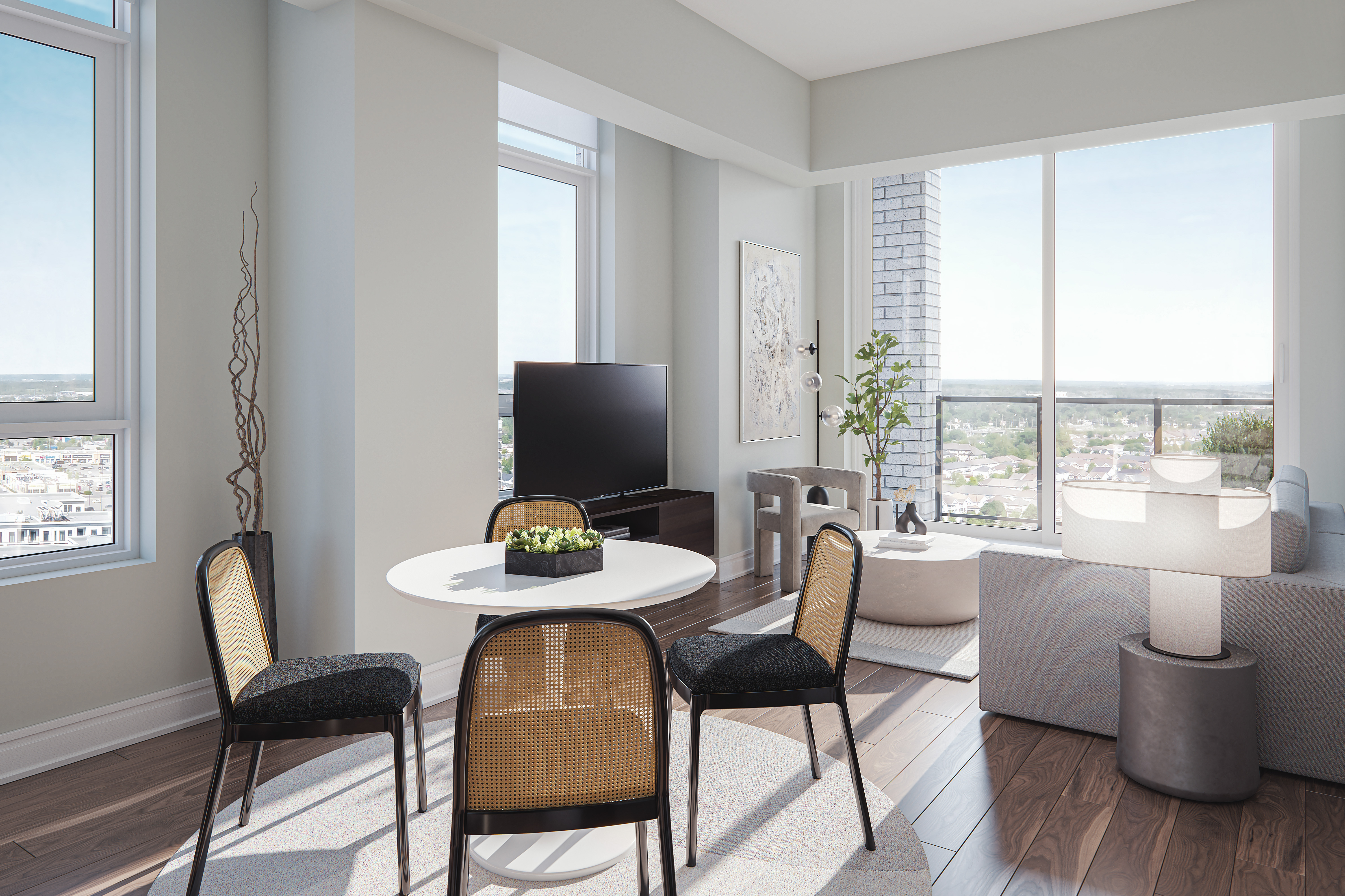 Living area rendering in virtual tour